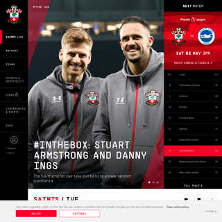 SOUTHAMPTON FC - Official Website of Saints – latest news, photos and videos