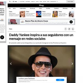 Instagram - Daddy Yankee inspira a sus seguidores con un mensaje en redes sociales - IG - Celebs - Celebridades - Video - EEUU -