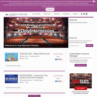 Homepage - The National Theatre - Washington D.C.