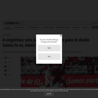 Santa Fe vs América- jugadores importantes en partido de Liga - Futbol Colombiano - Liga BetPlay - Futbolred