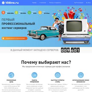 Первый профессиональный хостинг серверов — VDSina.ru