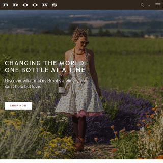 Brooks Wine - Award winning Willamette Valley wines