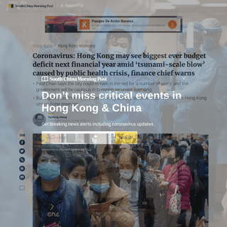 Coronavirus- Hong Kong may see biggest ever budget deficit next financial year amid 'tsunami-scale blow' caused by public he