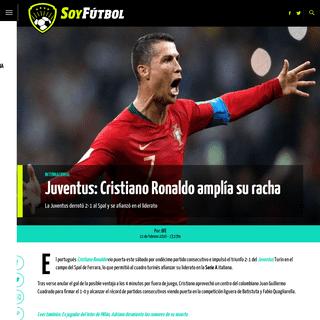 Juventus- Cristiano Ronaldo amplía su racha - Soy Fútbol