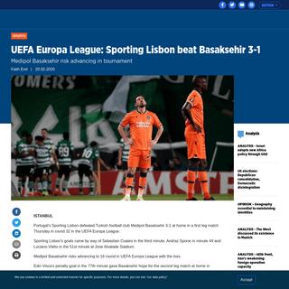 ArchiveBay.com - www.aa.com.tr/en/sports/uefa-europa-league-sporting-lisbon-beat-basaksehir-3-1/1740218 - UEFA Europa League- Sporting Lisbon beat Basaksehir 3-1