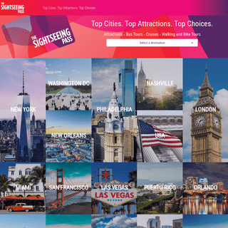 The Sightseeing Pass - City & Leisure Passes - Sightseeing Pass Company