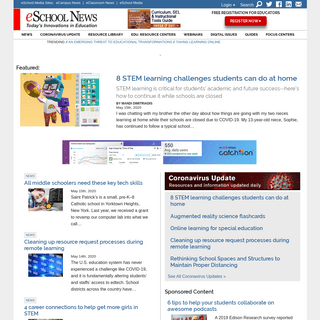 eSchool News - Get the top education technology news and learn about technology trends in education to improve learning. Registe