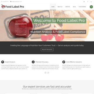 Home - Food Label Pro
