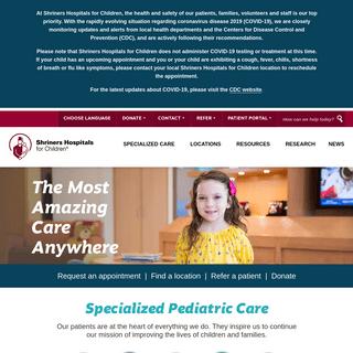 Childrens Hospital - Shriners Hospitals for Children