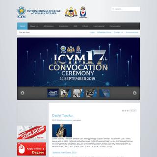 Home - International College of Yayasan Melaka (ICYM)