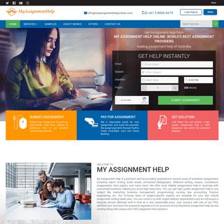 My Assignment Help Australia - Best Online Assignment Experts - MyAssignmentHelp