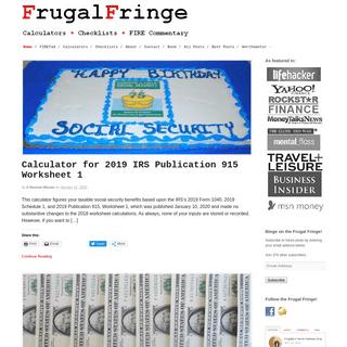 FrugalFringe.com