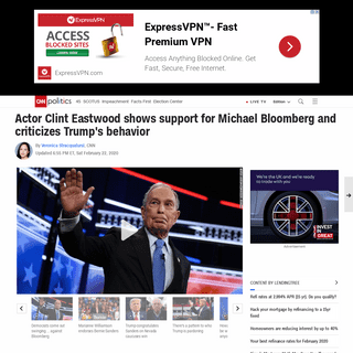 Clint Eastwood shows support for Michael Bloomberg - CNNPolitics