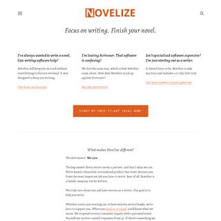 Novelize - Online Novel Writing Software