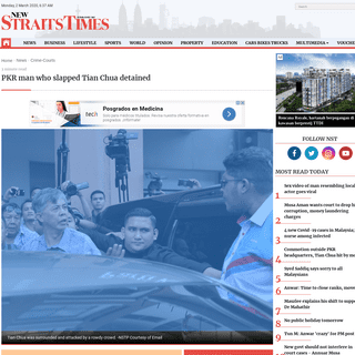 PKR man who slapped Tian Chua detained - New Straits Times - Malaysia General Business Sports and Lifestyle News