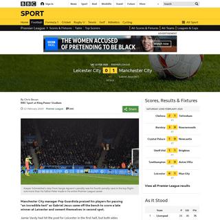 ArchiveBay.com - www.bbc.co.uk/sport/football/51512522 - Leicester 0-1 Man City- Gabriel Jesus' late strike earns win at King Power - BBC Sport