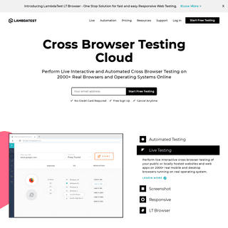 Most Powerful Cross Browser Testing Tool Online - LambdaTest