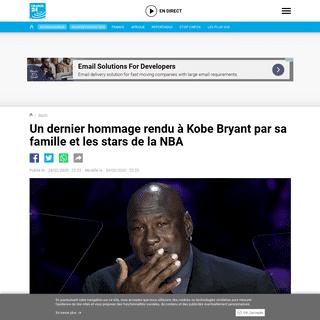 Un dernier hommage rendu à Kobe Bryant par sa famille et les stars de la NBA