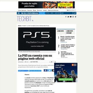 La PS5 ya cuenta con su página web oficial