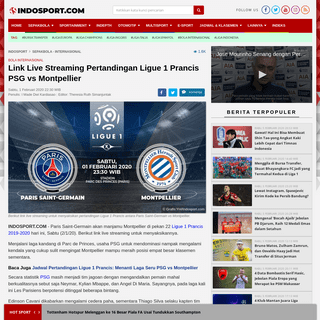 Link Live Streaming Pertandingan Ligue 1 Prancis PSG vs Montpellier - INDOSPORT