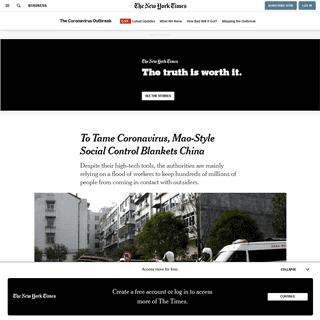 ArchiveBay.com - www.nytimes.com/2020/02/15/business/china-coronavirus-lockdown.html - To Tame Coronavirus, Mao-Style Social Control Blankets China - The New York Times