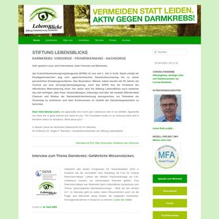 Stiftung LebensBlicke - Vorsorge und Früherkennung von Darmkrebs