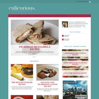Culicurious - Exploring culture via recipes and food