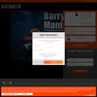 Barry Manilow Official Website - News, Tickets, & More