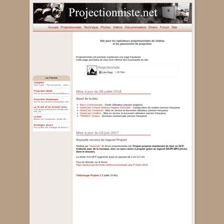 Projectionniste.net - Le site de l'operateur projectionniste de cinema