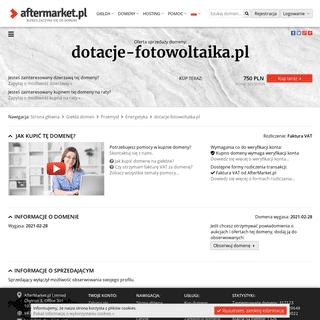 Oferta sprzedaży domeny- dotacje-fotowoltaika.pl