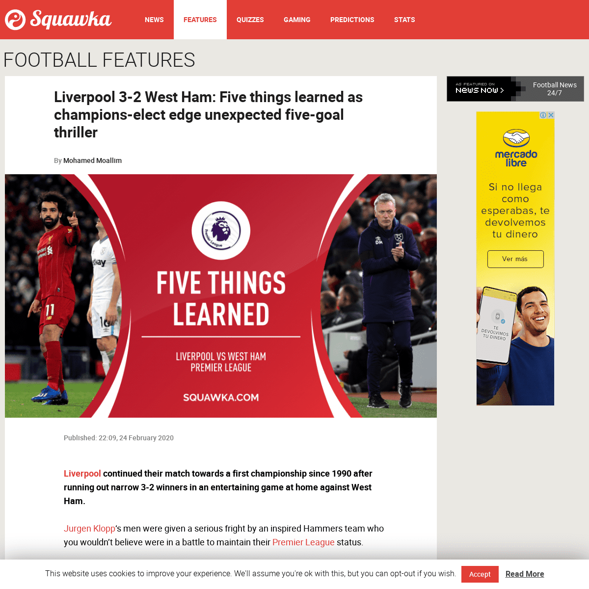 Liverpool 3-2 West Ham- Five things learned as champions-elect edge unexpected five-goal thriller - Squawka
