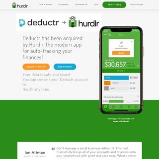 Deductr has been acquired by Hurdlr!
