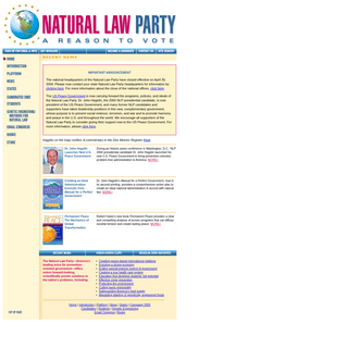 The Natural Law Party of the United States of America
