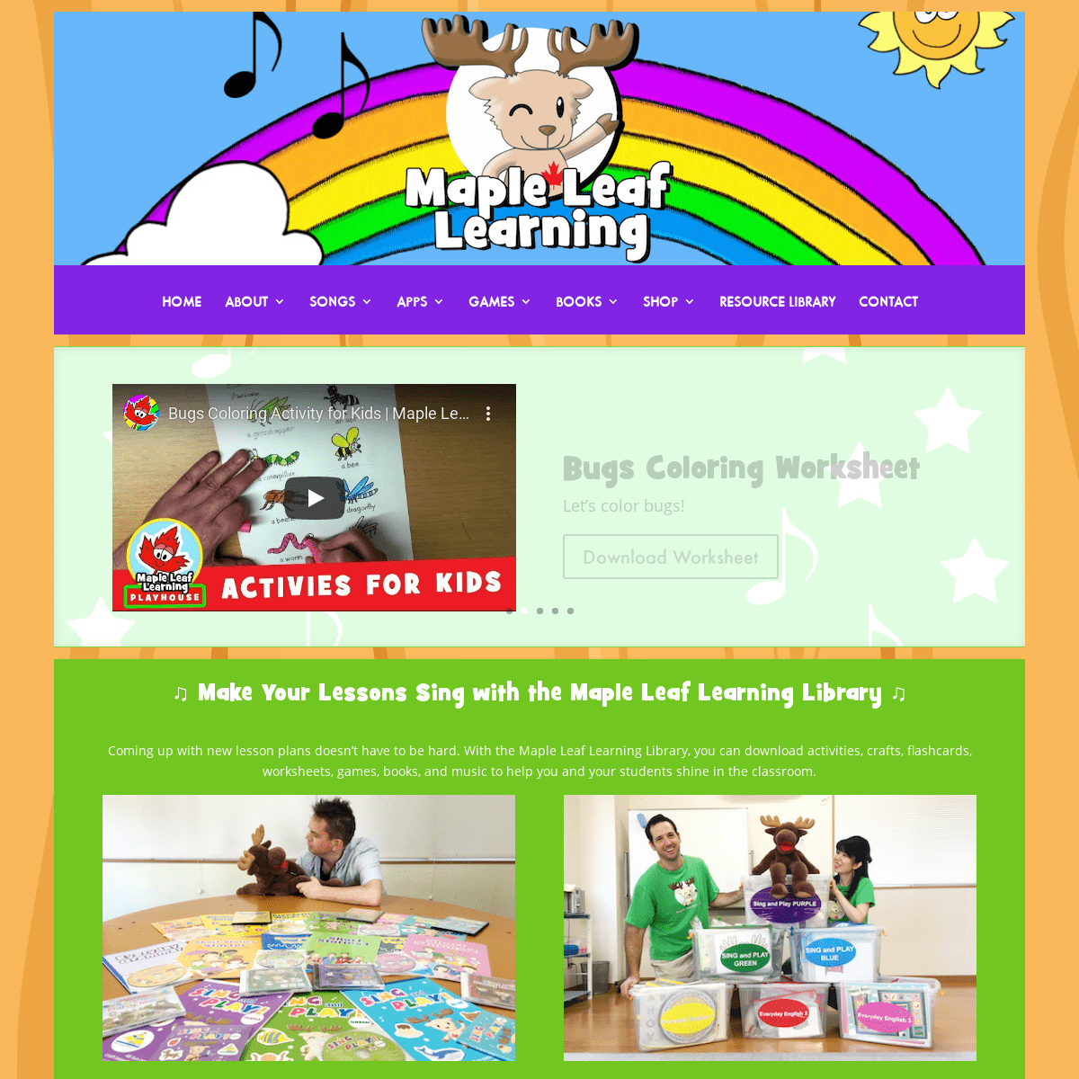 Maple Leaf Learning - Sing and Play in English