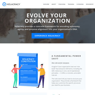 Holacracy - Evolve Your Organization