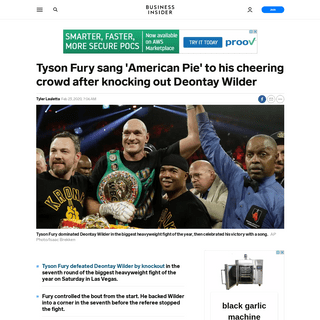 VIDEO- Tyson Fury knocks out Deontay Wilder then sings 'American Pie' - Business Insider