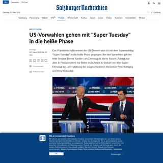 US-Vorwahlen gehen mit -Super Tuesday- in die heiße Phase - SN.at