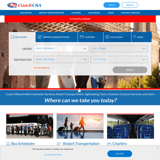 Bus Schedules – Charters – Sightseeing – Tours - Coach USA