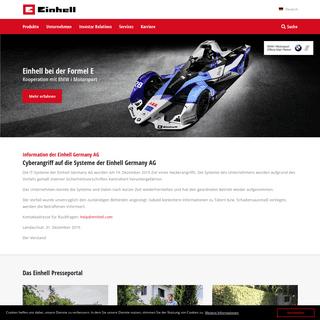 Die Einhell Germany AG - Einhell.com