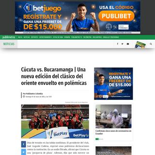 EN VIVO Cúcuta Deportivo VS Atlético Bucaramanga ONLINE GRATIS STREAMING AHORA Liga Betplay I-2020 (Hoy 1 de marzo) WIN Sports