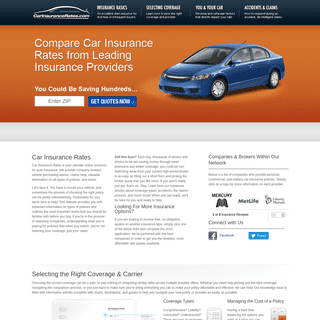 Car Insurance Rates - Get Free Auto Insurance Quotes Online