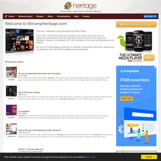 Winamp Media Player legacy site - WinampHeritage.com