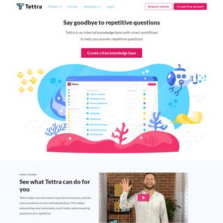 Internal Knowledge Base & Company Wiki Software - Tettra
