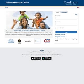 ComPsych Corporation - GuidanceResources Online - Login