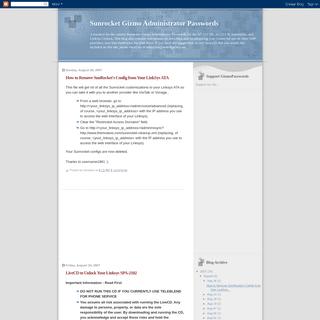 ArchiveBay.com - gizmopasswords.blogspot.com - Sunrocket Gizmo Administrator Passwords