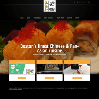 Billy Tse - Boston's Finest Chinese, Sushi and Pan Asian Cuisine ‹