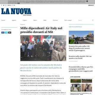 ArchiveBay.com - www.lanuovasardegna.it/regione/2020/02/20/news/mille-dipendenti-air-italy-nel-presidio-davanti-al-mit-1.38493177 - Mille dipendenti Air Italy nel presidio davanti al Mit - La Nuova Sardegna
