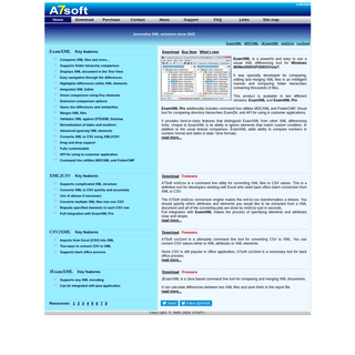 A7Soft provides tools to compare XML documents