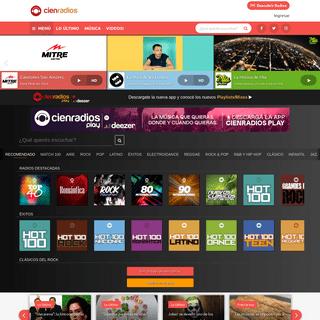 Cienradios - La red de radios online más grande de la Argentina