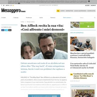 Ben Affleck recita la sua vita- «Così affronto i miei demoni» - Messaggero Veneto Udine